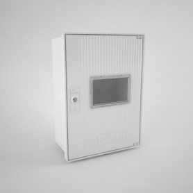 GAS-0v-1ml-c Empty cabinet for gas meter and inspection window - One user