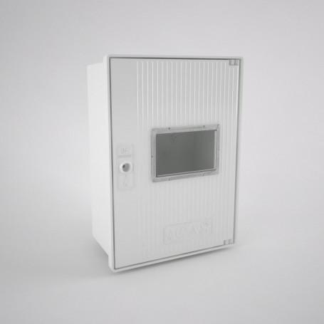 GAS-0v-1ml-c Armario vacío para contador de gas con una mirilla (1 abonado) 350 x 480 x 192