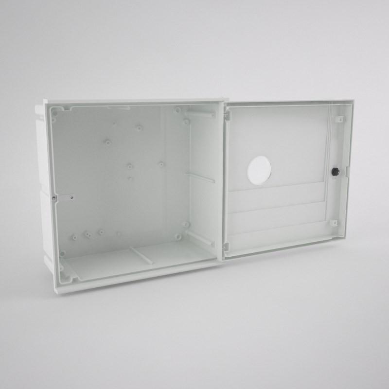 GAS-1-1ml Armario vacío para contador de gas con una mirilla (1 abonado) 535 x 520 220