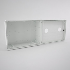GAS-2-2ml Empty cabinet for gas meter with two inspection window - two users
