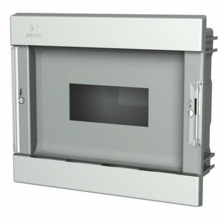 PEPT-6 Skrzynka ABS podtynkowa na 6 modułów z transparentnymi drzwiczkami