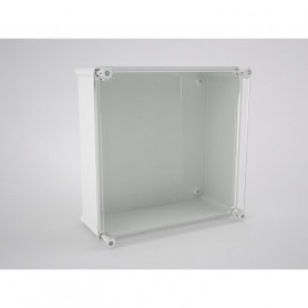 CA-44-PP Doble insulation modular box with trasparent cover + polyester mounting plate