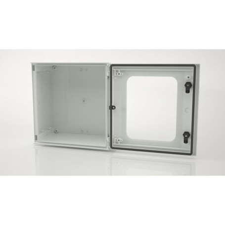 BRES-44p Coffret industriel monobloc IP66 avec porte transparente