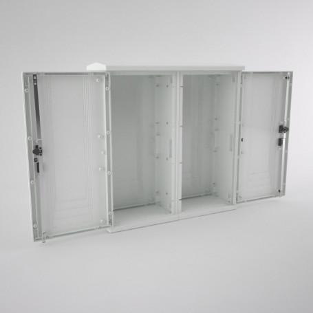 ART-1010-2P-IP55 Armoire fixation au sol avec toit, 2 portes IP55