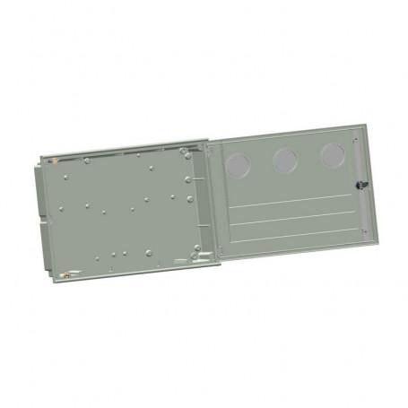 APM-2-3ml-c Szafa podtynkowa IP43 z 2 prostokątnymi okienkami kontrolnym