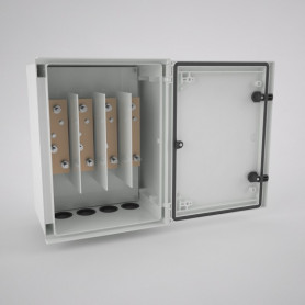 BRES-43-DER Monobloc industrial enclosure IP66 with window and bushbars