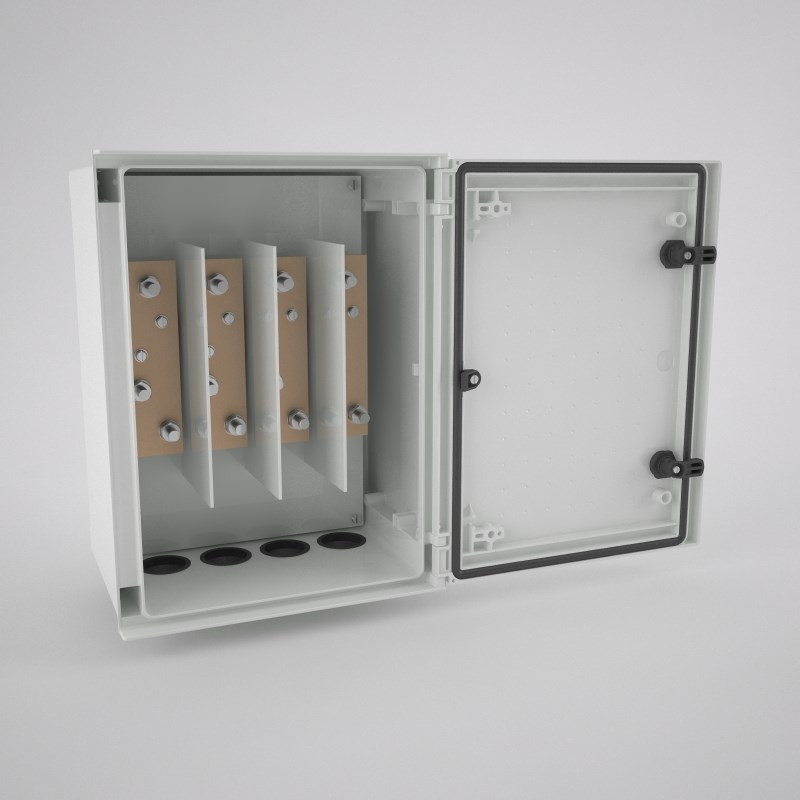 BRES-43-DER Armario industrial monobloc IP66 con ventana y pletinas